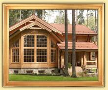 Деревянные дома и срубы из оцилиндрованного бревна, бруса. Общая площадь от 201 до 300 м2