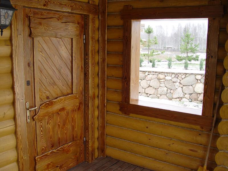 Отделка входной деревянной двери своими руками 71