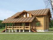 Деревянный дом из оцилиндрованного бревна «Татьяна»