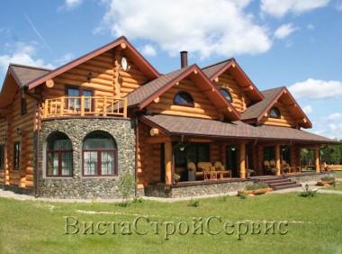 Деревянный дом из оцилиндрованного бревна «Лесное-1»