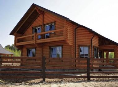 Деревянный дом из оцилиндрованного бревна «Причал-2»