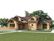 Деревянный дом из оцилиндрованного бревна «Усадьба-1»