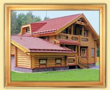 Деревянные дома и срубы из оцилиндрованного бревна, бруса. Общая площадь до 200 м2.