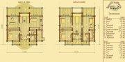 Деревянный дом из оцилиндрованного бревна «Бор-1»