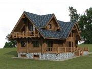 Деревянный дом из оцилиндрованного бревна «Дмитрич»
