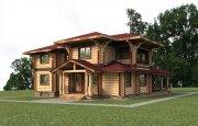 Деревянный дом из оцилиндрованного бревна «Евгений»