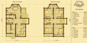 Деревянный дом из оцилиндрованного бревна «К-2»