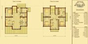 Деревянный дом из оцилиндрованного бревна «К-3»