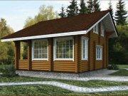 Деревянный дом из оцилиндрованного бревна «Катерина»