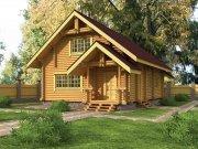 Деревянный дом из оцилиндрованного бревна «Лагуна»