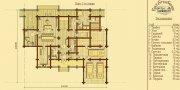 Деревянный дом из оцилиндрованного бревна «Монплизир-2»