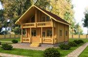 Деревянный дом из оцилиндрованного бревна «Настя»