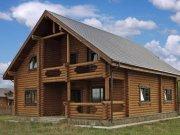 Деревянный дом из оцилиндрованного бревна «Парус»
