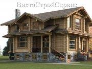 Деревянный дом из оцилиндрованного бревна «Переделкино»