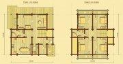 Деревянный дом из оцилиндрованного бревна «Светлый-1»