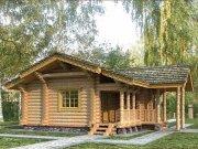Деревянный дом из оцилиндрованного бревна «Турист-2»
