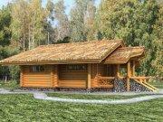 Деревянный дом из оцилиндрованного бревна «Турист-1»