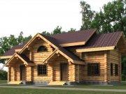 Деревянный дом из оцилиндрованного бревна «ТвинХаус»