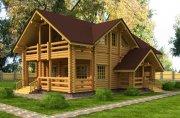 Деревянный дом из оцилиндрованного бревна «Волга»