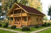 Деревянный дом из оцилиндрованного бревна «Загородный»